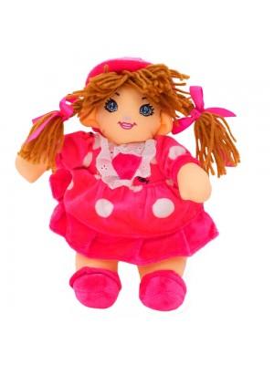 Boneca Pink Círculos Com Chapéu 28cm