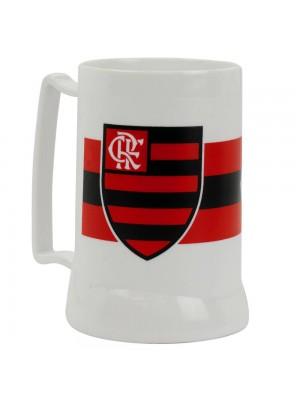 Caneca Branca Gel Isolante Térmico 400ml - Flamengo