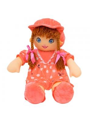 Boneca Rosa Círculos Com Chapéu 77cm