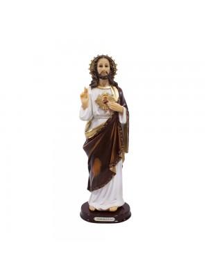 SAGRADO CORAÇÃO DE JESUS 31CM - ENFEITE RESINA