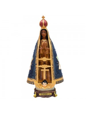 Nossa Senhora Aparecida 31cm - Enfeite Resina