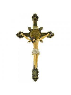 Crucifixo De Parede 30cm - Enfeite Resina