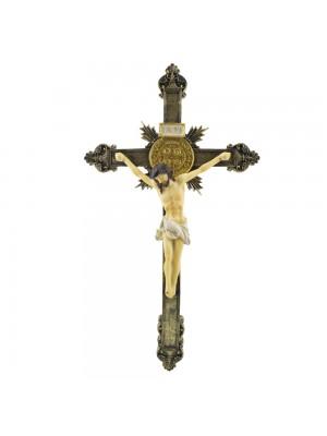 Crucifixo De Parede 39.5cm - Enfeite Resina
