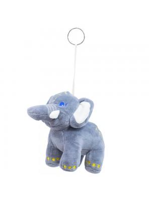 Chaveiro Elefante Cinza 14cm - Pelúcia