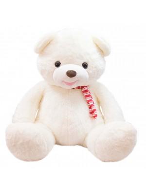Urso Branco Laço 77cm - Pelúcia