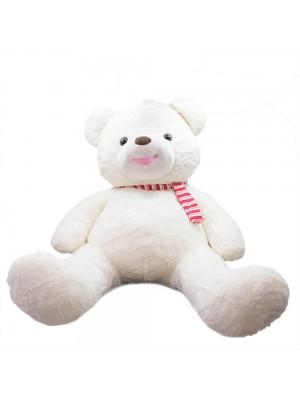 Urso Branco Laço 94cm - Pelúcia