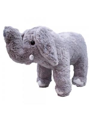 Elefante Cinza Tromba Levantada 16cm - Pelúcia