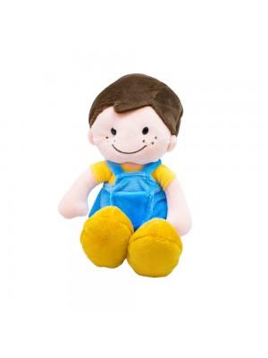 Boneco Sorridente Roupa Azul 29cm