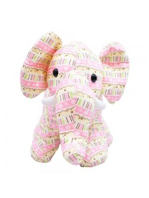 Elefante Rosa Em Pé 34cm - Pelúcia
