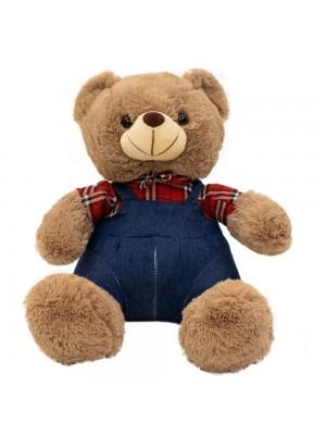 Urso Suspensório Camisa Quadriculada 31cm - Pelúcia