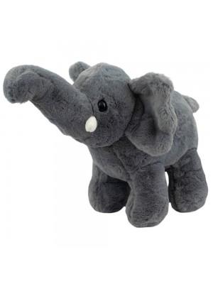 Elefante Cinza Tromba Levantada 30cm - Pelúcia