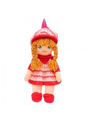 Mochila Boneca Saia Chapéu Rosa Branco 50X34cm