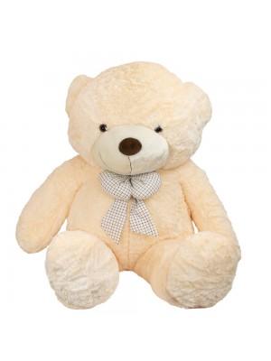 Urso Bege Laço 80cm - Pelúcia