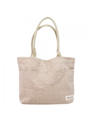 Bolsa Marrom Shopping Bag Bella + Charlie 44X32X13cm
