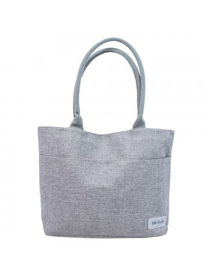 Bolsa Cinza Shopping Bag Bella + Charlie 44X32X13cm