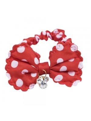 Elástico Cabelo Vermelho Pingente Minnie - Disney