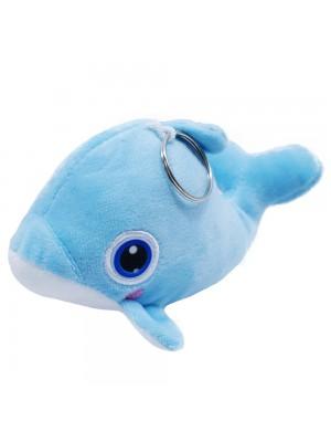 Chaveiro Golfinho Azul Bochechas Rosadas 18cm - Pelúcia