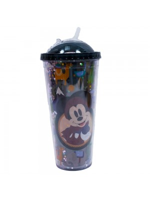 Copo Preto Mickey Cubos Gelo Artificial 600ml - Disney