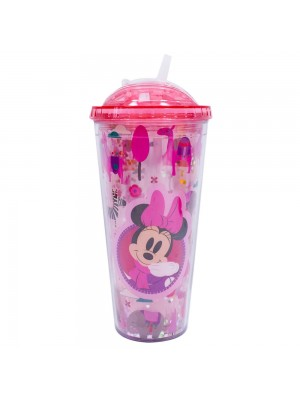 Copo Rosa Minnie Cubos Gelo Artificial 600ml - Disney