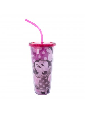 COPO COM CUBOS DE GELO MINNIE SOMBRA 600ML - DISNEY