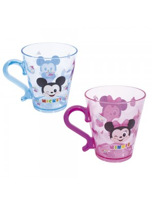 JG COM 2 CANECAS DE ACRÍLICO MICKEY & MINNIE 300ML - DISNEY