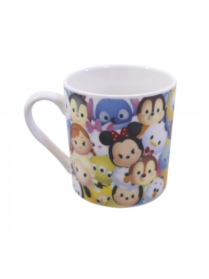 CANECA DE PORCELANA MICKEY & MINNIE TSUM TSUM PERSONAGENS 250ML - DISNEY
