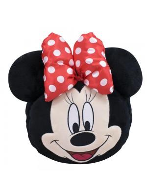 Mochila Bolsa Pelúcia Rosto Minnie 24X21cm - Disney