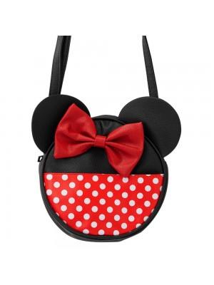 Bolsa Tiracolo Circular Rosto Cores Minnie 22x6x22cm - Disney