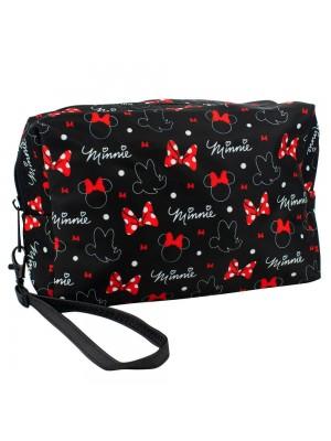 Necessaire Preto Minnie 15x7x21cm - Disney