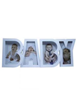 Multi Porta Retrato Baby Branco 4 Fotos 10X15cm - Porta Retrato