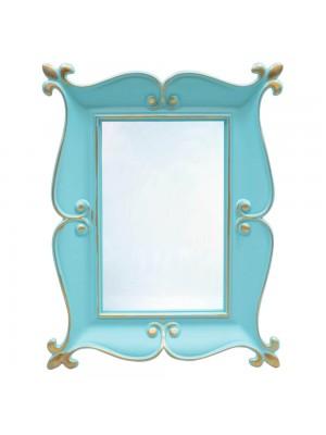 Espelho Moldurado Verde Turquesa 22x17cm