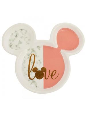 Enfeite Porcelana Formato Mickey 15.5x13.5cm - Disney