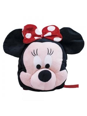 Mochila Infantil Preto Minnie Pelúcia - Disney