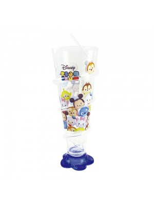 Copo Cone Azul Com Canudo Mickey & Minnie 250ml - Disney