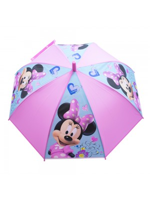 Guarda Chuva Infantil Rosa Minnie Sorridente - Disney