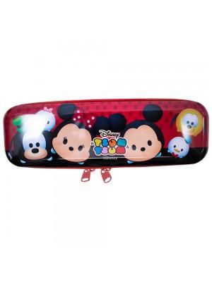 Estojo Metal Vermelho Mickey Minnie Tsum Tsum 6x3.5x19cm - Disney