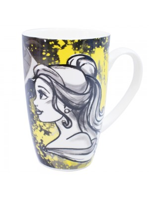 Caneca Porcelana Bela Princesas 400ml - Disney