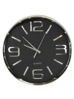 Relógio Parede Prateado 30x30cm