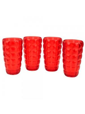 Jogo 4 Copos Vermelhos 570ml