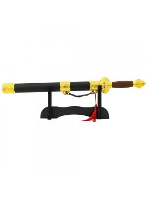 Mini Espada Decorativa Dourada Chinesa 43cm