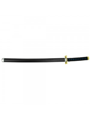 Espada Decorativa Japonesa Katana Preta Samurai Modelo C 75cm