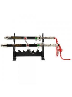 Jg 2 Mini Espada Decorativa Chinesa 25.5cm 29cm