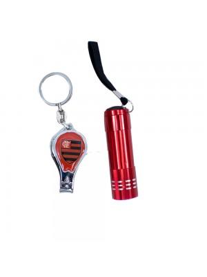 Jogo De Lanterna Com Chaveiro Cortador De Unha - Flamengo