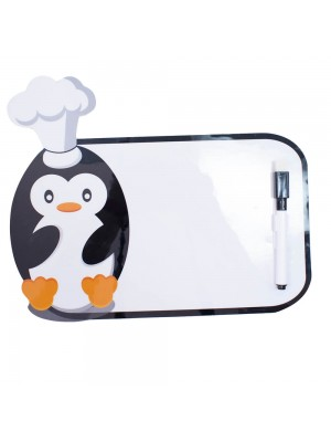 Adesivo Decorativo Pinguim Quadro Escrever 21X14cm