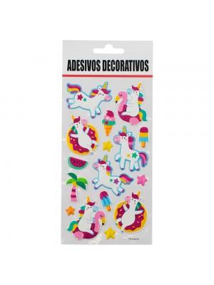 Adesivo Decorativo Unicórnios 21.5x9.5cm