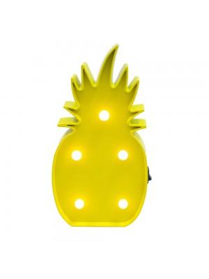 Luminária Abacaxi Amarela 5 lâmpadas