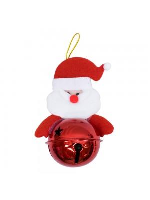 Boneco Papai Noel Com Sino Vermelho 13cm - Enfeite Natalino