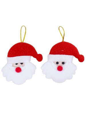 Jogo 2 Papai Noel 9cm - Enfeite Natalino