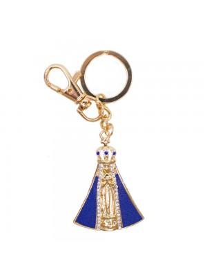 Chaveiro Nossa Senhora Aparecida Azul 4.7cm