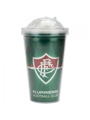 Copo De Plástico Com Canudo 450ml - Fluminense